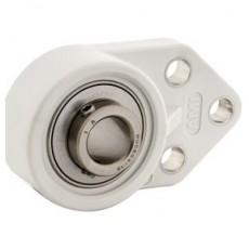 MUCFBL200 Series Normal-Duty Set-Screw Locking Thermoplastic 3-Bolt Flange Bracket - 101495774